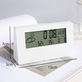 Multi-Functional Desk Digital Alarm Clock with Light, Calendar & Temperature Battery Operated