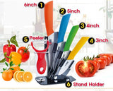 6 in 1 Ceramic knife Set