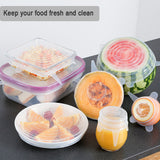 Silicone Storage Cover Lid, Reusable in 6 Different Sizes