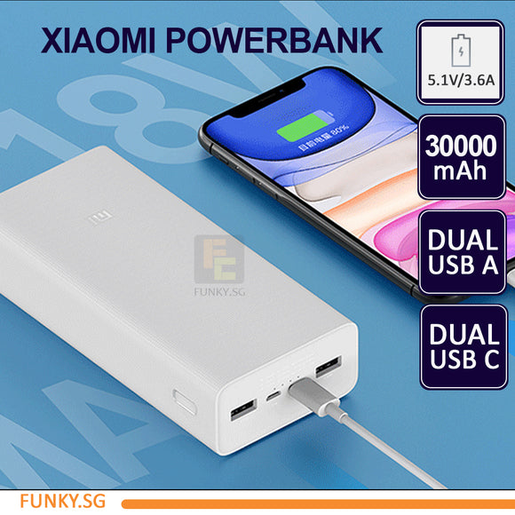 Xiaomi Powerbank 30000mAh GEN3 Powerbank two-way quick charge suitable for laptops PB30182M