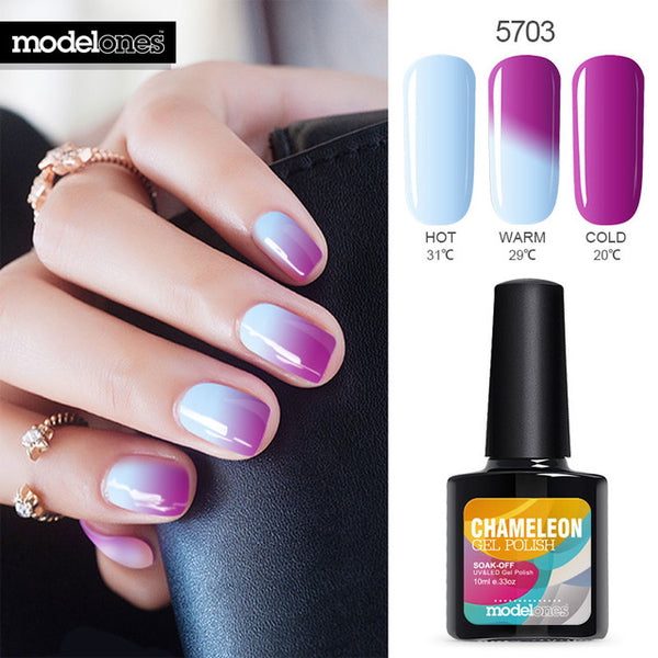 Chameleon Nail Gel Polish, Color Changing With Temperature, 10ML