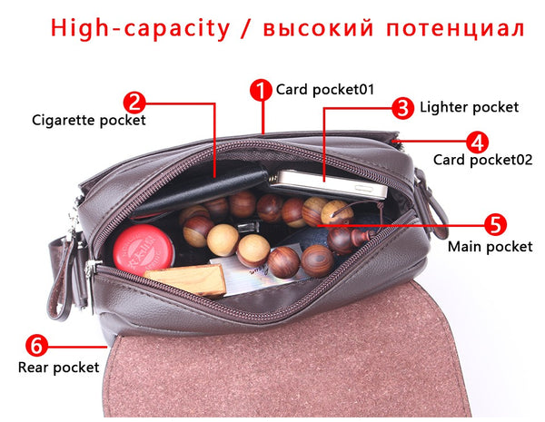 Luxurious and spacious stylish messenger leather bag for men, top quality