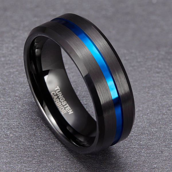 Tungsten Carbide Ring (Blue) for Men