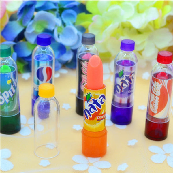Cute New Fashion Fantastic Coke Bottle Lipstick Set, Long Lasting Hydrating Lip Gloss, 6 pieces per Set