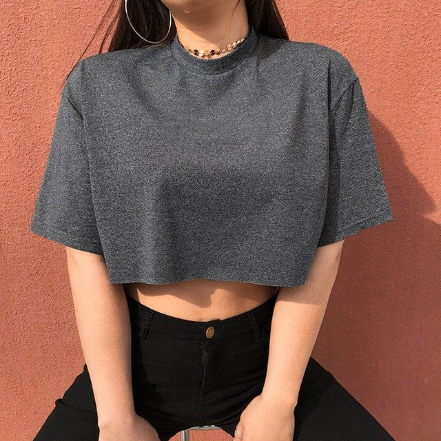 Cropped Love T Shirt