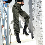 Casual High Waist Olive Pants