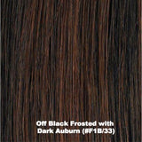 Off Black Frosted with Dark Auburn (#F1B/33)