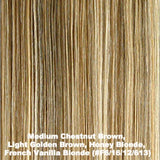 Medium Chestnut Brown, Light Golden Brown, Honey Blonde, French Vanilla Blonde (#F6/16/12/613)