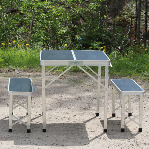 Table pliante ONATA + 2 bancs