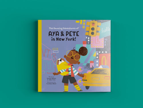 Cover of The Amazing Adventures of Aya & Pete in New York children's book