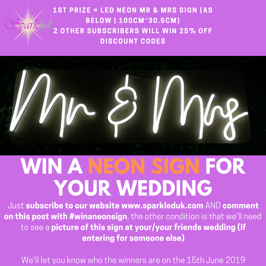 Win a Neon Wedding Sign Competiton