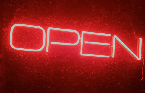 Deluxe OPEN - Red Neon (Next day)