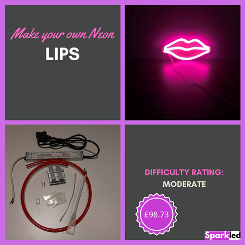 Make your own Neon Lips