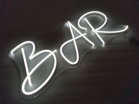 BAR neon sign (Next day)