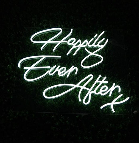 Led Neon Sign Happily Ever After (Cool White) | Hire