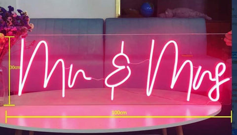 Led Neon Mr & Mrs