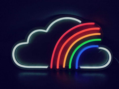 Cloudy Rainbow Neon Sign