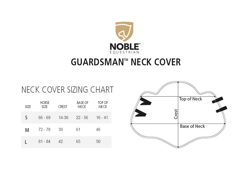 Neck Covers Size Chart