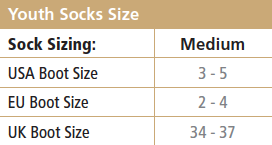 Youth Socks Size Chart