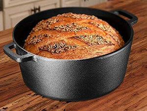 No-Knead Dutch Oven Bread Using Bruntmor's Matte Black Enameled Dutch Oven