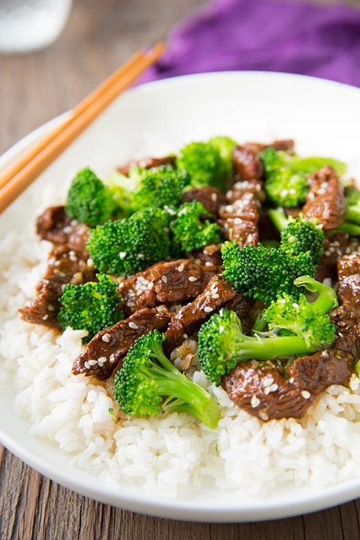 Beef and Broccoli Using Bruntmor's Cast Iron Wok