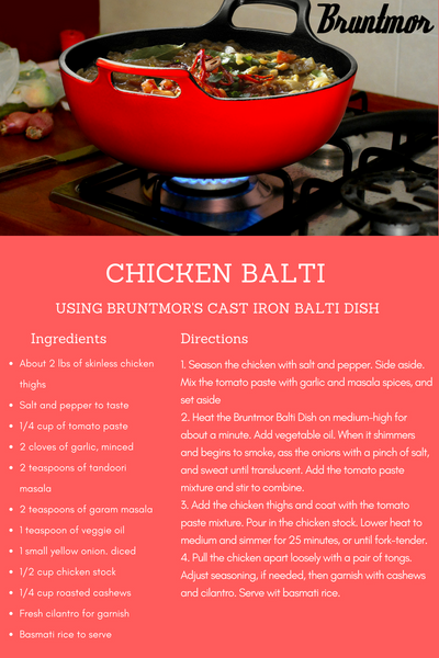 Chicken Balti Using Bruntmor's NEW Cast Iron Balti Dish