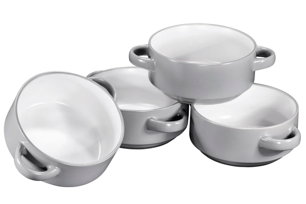Porcelain Soup Bowls With Handles - Oven Safe Bowls For French Onion Soup - Bruntmor