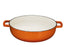 Enameled 4.5 Quart Cast Iron Casserole DIsh Dutch Oven Super Heat Retention Gradient Pumpkin Spice - Bruntmor