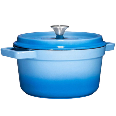 Enameled Cast Iron Dutch Oven, 6.5-Quart, Sky Blue - Bruntmor