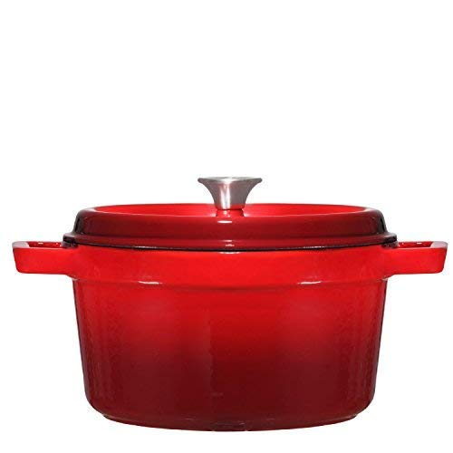 Enameled Cast Iron Dutch Oven, 6.5-Quart, Multiple Colors - Bruntmor