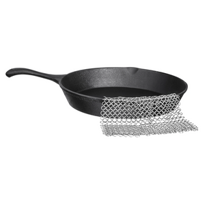 "Stainless Steel 304 Chainmail - Cast Iron Cleaner, 8"" x 8"" - Bruntmor"