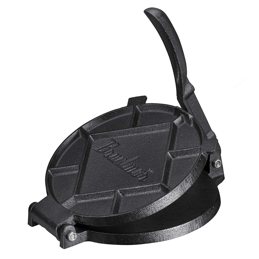 "Cast Iron Tortilla Press 7"" - Bruntmor"
