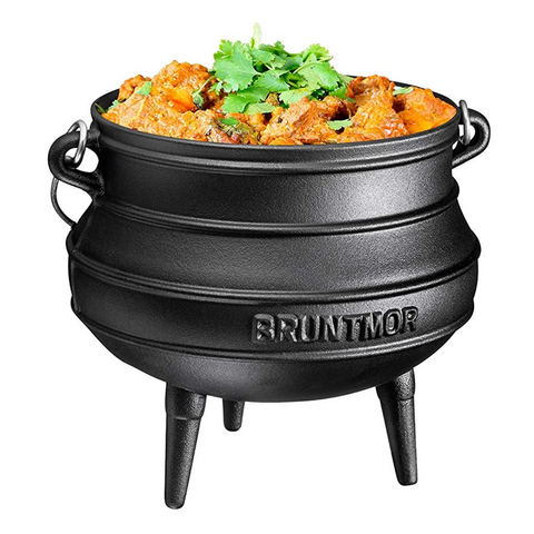 Cast Iron Pre-Seasoned Potjie African Pot - Bruntmor