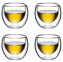Double Wall Glass No Handle 4 oz, Set of 4 - Bruntmor