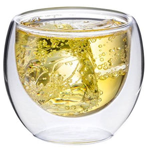 Double Wall Glass No Handle 4 oz, Set of 4