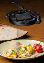 "Load image into Gallery viewer, Cast Iron Tortilla Press 7"" - Bruntmor"