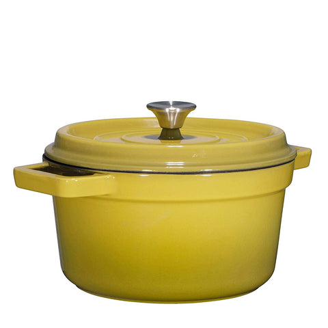 Enameled Cast Iron Dutch Oven, 6.5-Quart, Olive Green - Bruntmor
