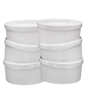 Ceramic Ramekins Set of 6 (White)