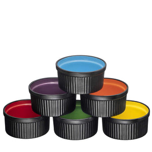 Ceramic Ramekins Set of 6 (Deep Black) - Bruntmor