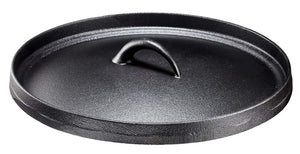 Cast Iron Dutch Oven with Flanged Lid 6 Quart Flat Bottom