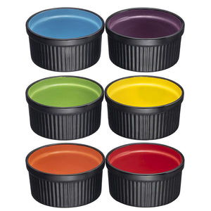 Ceramic Ramekins Set of 6 (Deep Black)