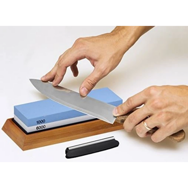 Whetstone Knife Blade Sharpener - Bruntmor