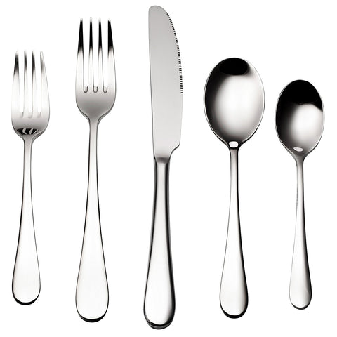 ALBA Silverware, 45 Piece, Service for 8 + 5 Serving Pieces - Bruntmor