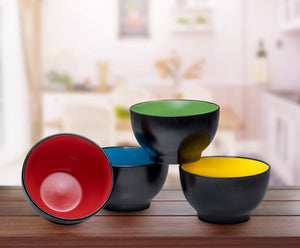 Ceramic Bowls- 4 Piece Set- Multi-Color