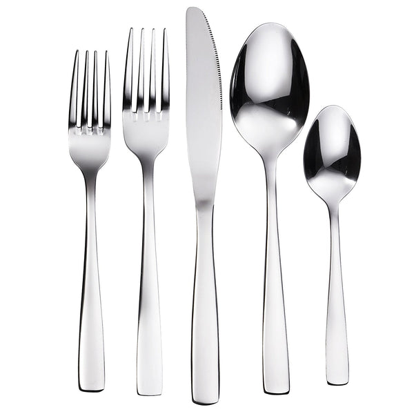 The Everyday Silverware 20 Piece Flatware Cutlery Set - Bruntmor