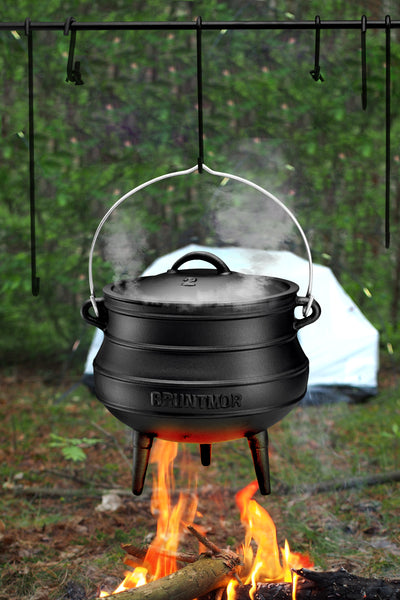 Bruntmor Grill Swing Campfire Cooking Stand BBQ Grill for Cookware & Dutch Oven cast iron - Bruntmor
