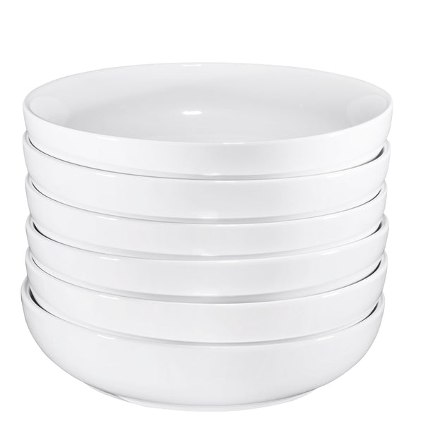 Bruntmor Ceramic Salad, Cereal And Pasta Bowls Set Of 6,   24 oz - Bruntmor