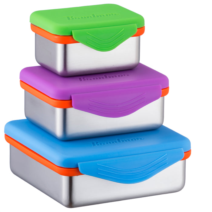 Stainless Steel Food Containers with Snapping Seal Leak-proof Lids - Bruntmor