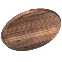 "Wooden Lid for 14"" Cast Iron Wok"