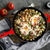 Red Enameled Cast Iron Skillet, 12 inch